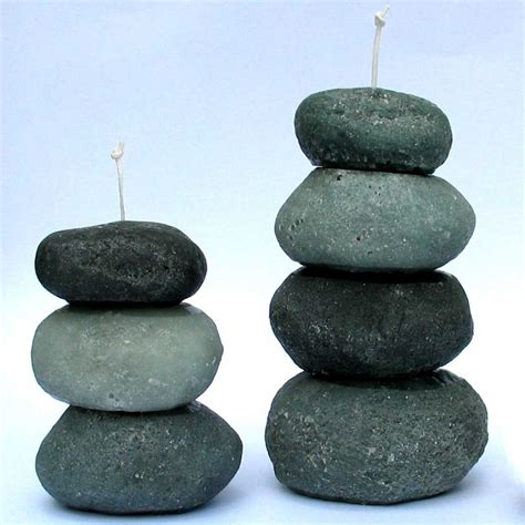 Lovely Christmas Lights Wholesale #8: Stone-Cairn-Candles-Large-and-Small.jpg
