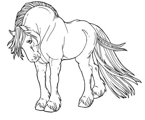 pattern horse drawing free line art no pattern by applehunter on deviantart