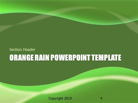 green themes for powerpoint 2007 green rain a powerpoint template from presentermedia com