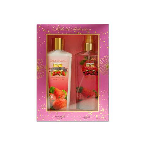 Parfum Shop Strawberry 12 units of 2 gift set strawberry nights fragrance mist lotion at alltimetrading