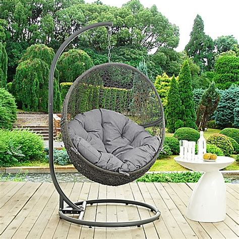 stand alone swing for toddler buy modway hide patio stand alone swing hammock chair in
