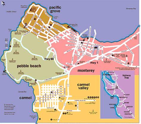 map monterey california directions to beachcomber inn pacific grove ca