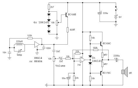 am radio integrated circuit portable am receiver using zn414 integrated circuit eeweb community