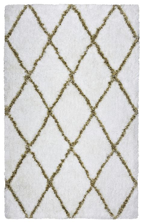 white pattern area rug connex diamond pattern hand tufted area rug in white
