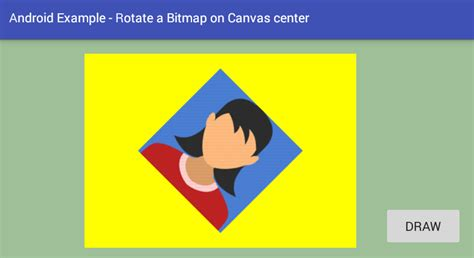 android relative layout canvas android how to rotate a bitmap on canvas center