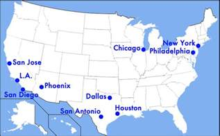 10 largest us cities map which u s cities are being ignored by tv
