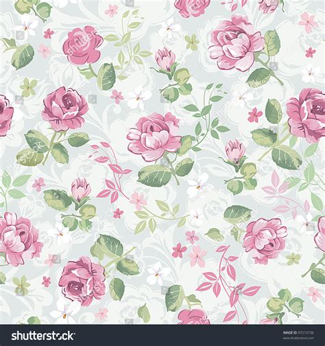 floral texture pattern vector abstract elegance seamless floral pattern beautiful stock