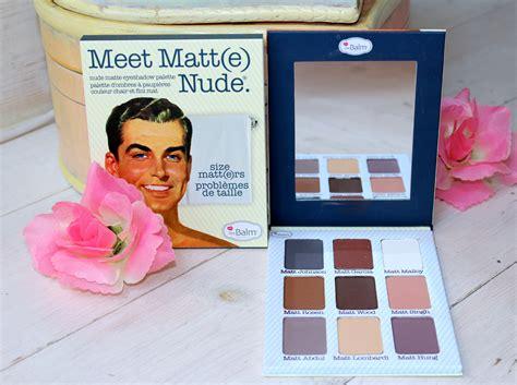 Meet Mat by The Balm Meet Matt E Palette S Beautiful