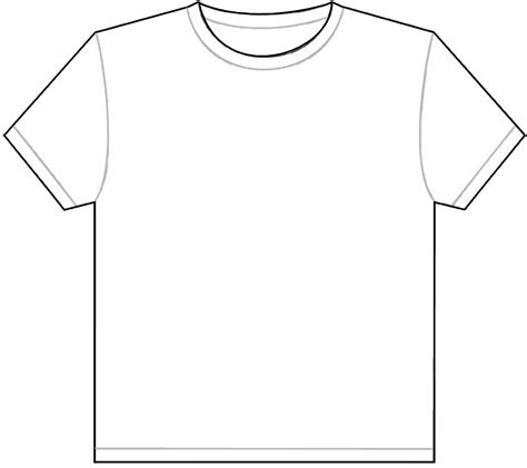 shirt pattern layout plain white t shirt outline