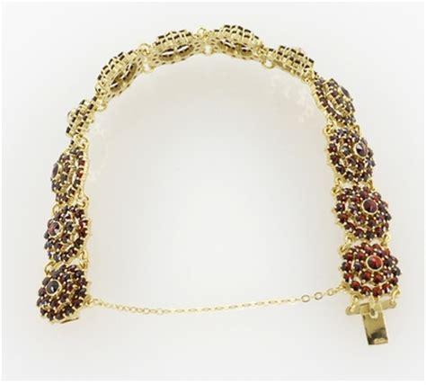 Flower Blossom Bracelet bohemian garnet flower blossom link bracelet in sterling