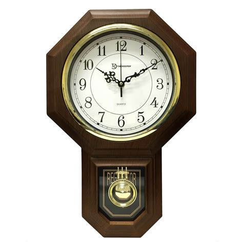 wall watch timekeeper products 18 1 2 in x 11 1 4 in pendulum