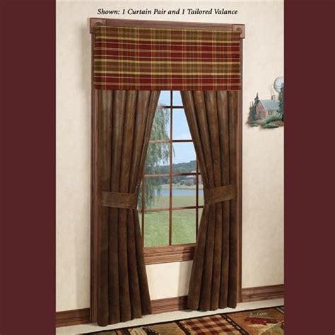 rustic curtains cabin window treatments montana morning rustic window treatment