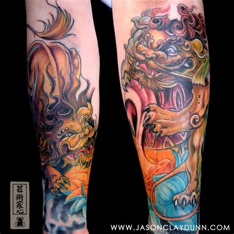 jason dunn tattoo guardian lions on my chest this whimsical updated