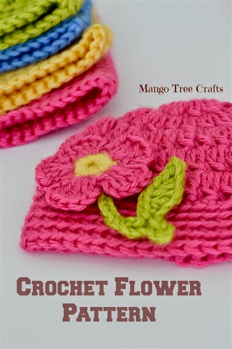 free patterns applique crochet mango tree crafts free crochet flower applique pattern