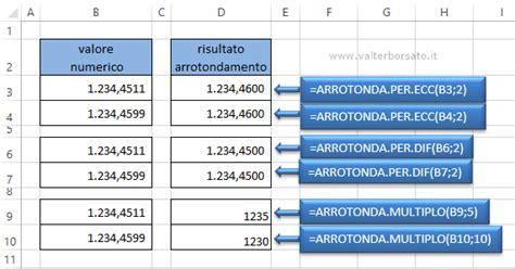 virgola mobile esercizi le funzioni di arrotondamento di excel arrotondare