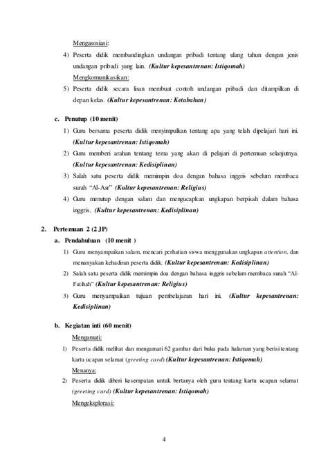 Membuat Undangan Ulang Tahun Dengan Bahasa Inggris | rpp bahasa inggris kelas 8 kurikulum 2013 terbaru chapter 4