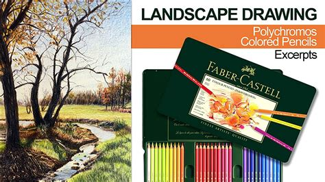 colored pencil landscape landscape drawing with colored pencils