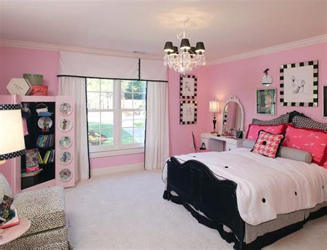 pink black white room ideas