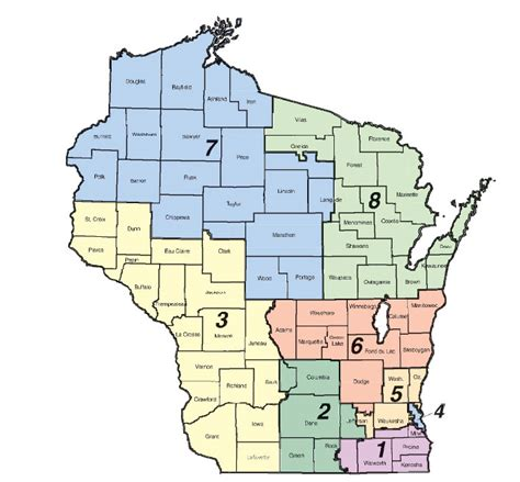 map us congressional districts wisconsin senate district 5