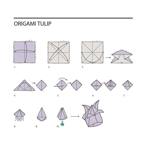 How To Make A Paper Tulip Step By Step - diy origami flowers paperlust