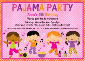 pajama birthday invitation slumber by cutiestiedyeboutique
