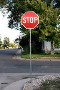 which corner does a st go on stop sign on street corner picture free photograph