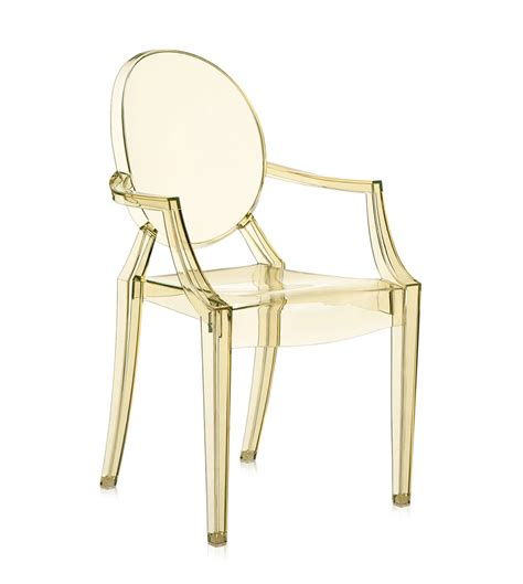 sedia kartell louis ghost kartell sedia louis ghost giallo policarbonato