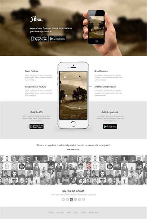 free landing page template 35 best free landing page psd templates designmaz