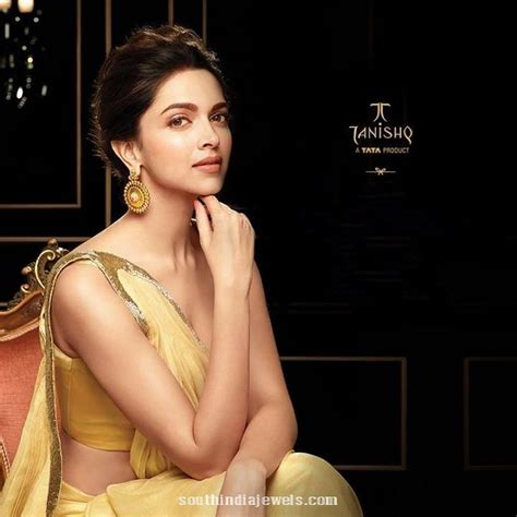 deepika padukone earrings deepika padukone in tanishq gold earrings deepika