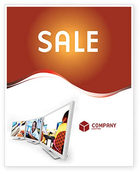 poster package layout computer education in school sale poster template in