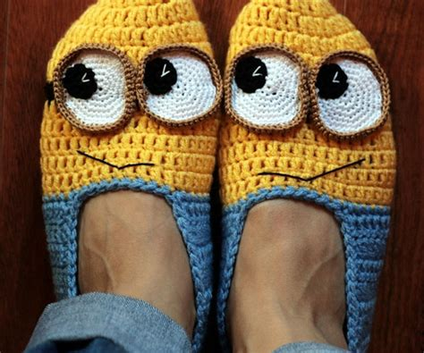 minion crochet slippers pattern free pattern crochet minion slippers dancox for