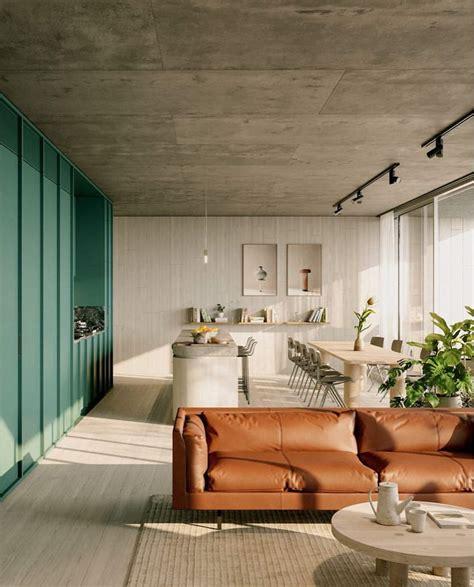 interior color trends  brown caramel interiors