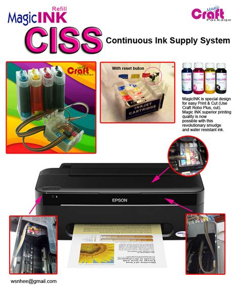 Ciss Epson Gabung T13 craft magic trading ciss continuous ink supply system for