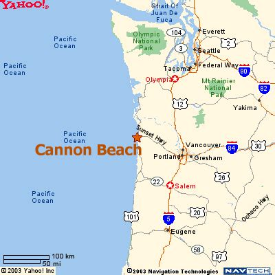 cannon beach online maps
