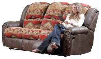 Slipcover For Recliner Sofa Chelsea Home Yuma Reclining Sofa In Bay Tuscan Espresso Traditional Sofas