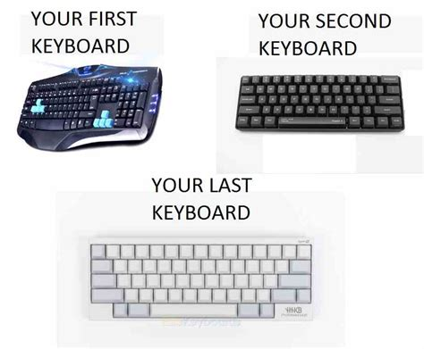 Meme Keyboard - keyboard evolution x post r mechanicalkeyboards