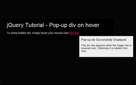 Tutorial Pop Up Javascript | create a pop up div in jquery creative individual design
