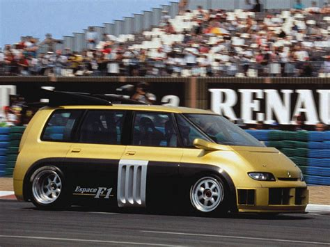 renault minivan f1 alain prost drives an f1 powered minivan