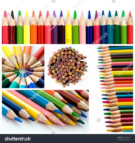 colorful pencils and office supplies collage stock photo color pencils collage stock photo 91949915 shutterstock