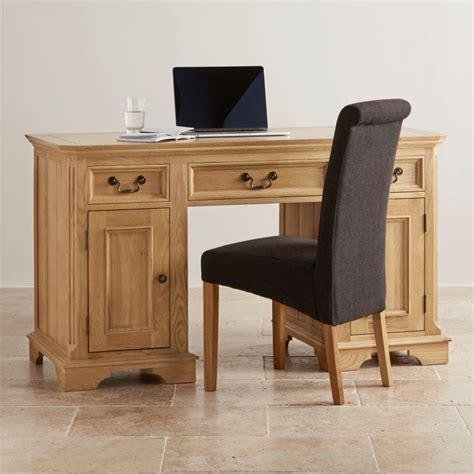 oak furniture land computer desk edinburgh natural solid oak computer desk by oak furniture
