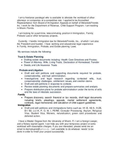 Cover Letter For Paralegal by Cover Letter For Paralegal