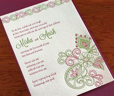 indian wedding invites indian wedding invitation design gallery misha