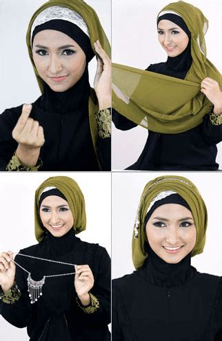 tutorial jilbab segitiga ke pesta 16 tutorial hijab segi empat pesta sederhana modern elegan