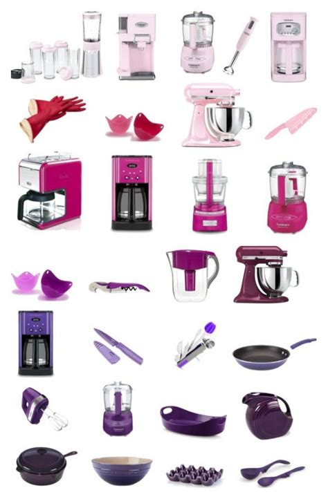 brighten  kitchen pink purple kitchen tools