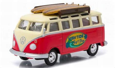 Diecast Mobil 1 64 Volkswagen Samba Japan 2016 volkswagen t1 samba high tide surf shop greenlight diecast model car 1 64 buy sell diecast car
