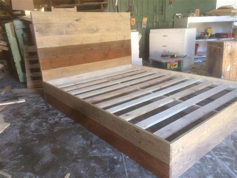 Diy Pallet Platform Bed 101 Pallets Handmade Wooden Bed Frames