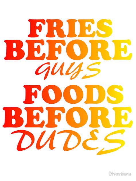 Wall Sayings Stickers quot fries before guys foods before dudes quot stickers by