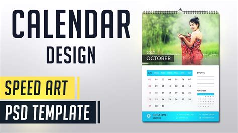 make calendar design calendar 2018 photoshop speed monthly calendar