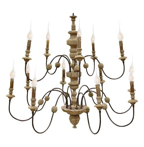 And Wood Chandelier Philippe Country Reclaimed Wood Iron 13 Light Grand