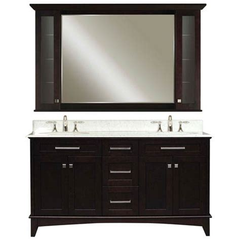 manhattan espresso sink bathroom vanity combo water